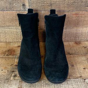 Born Landa black suede boots booties Size 8.5